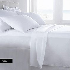 Lussona Collection 500 Thread Count 100% Pima Cotton Bed Sheets – 4 Piece Bed Sheet Set 17″ Deep Pocket HIGHEST QUALITY & LOW PRICE- Wrinkle Free Hypoallergenic Bedding- Cal King ,White.