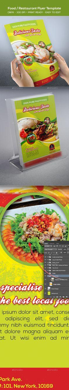 Food Flyer Bundle Flyer template and Ai illustrator - food flyer template