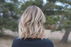Wavy Angled Bob #hair #bob #hairstyles | BackEastBlonde.com
