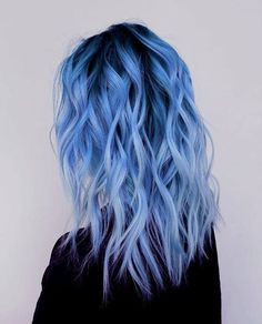 Fantasy colors hair dye colors, 2019 dyed hair, hair ve hair Blue Ombre Hair, Hair Color Purple, Hair Dye Colors, Dyed Hair Blue, Light Blue Hair, Periwinkle Hair, Dyed Hair Pastel, Blue Hair Balayage, Denim Blue Hair