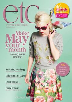 May 2014 front cover of #etcMagazine #HouseofFraser #McQ http://etcmag.net/ http://www.pinterest.com/etcmagsouth/front-covers/