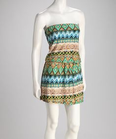 Take a look at this Turquoise Strapless Dress by Jazzy Martini on #zulily today! $14.99, regular 48.00