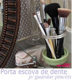 toothbrush storage holds makeup brushes