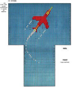 Jet Airplane Socks Pattern #7231