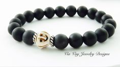 Matte Agate and Carved Bone Face Men's Collection | Via Vay Jewelry Designs