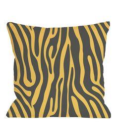 Gray & Mimosa Raffi Zebra Throw Pillow #zulily #zulilyfinds