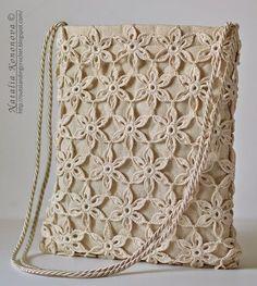 Outstanding Crochet: Free Crochet Tote Bag Pattern - Summer Tote Bag at. Crochet Diy, Beau Crochet, Free Crochet Bag, Crochet Motifs, Crochet Tote, Crochet Handbags, Crochet Purses, Crochet Patterns, Crochet Summer