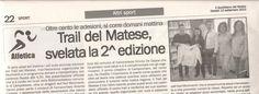 Presentazione #traildelmatese in BiblioMediaTeca #labibliomediatecafuoridisé.  Quotidiano del Molise 12/09/2015.