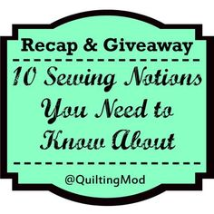 10 Sewing Notion Essentials Recap and Giveaway! | Clover Needlecraft