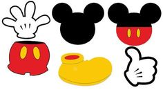 Mickey Mouse Shoes Clipart .