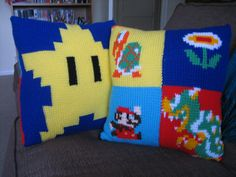 Ravelry: Tunisian Crochet Mario Cushion pattern by Another Kay Jones