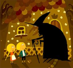 Hansel e Gretel illustrata da Violeta Dabija tramite questa illustrazione vettoriale. [Coroflot.com] #violetadabija #dabija #illustrazioni #storieillustrate #kids #animaciones #vector #illustratori #arte #art #disegni #drawing #hanselegretel #grimm #fiabe #childrenbooks
