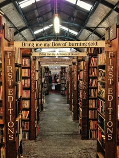 Barter Books: Northumberland, England I just want to get lost in a good book :) Second Hand Bookstore, Grand Hall, Alnwick Castle, Library Quotes, American Gods, Sight & Sound, Sims House, Great Britain, Beautiful Images