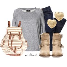 """Comfy Casual School Outfit"" by natihasi on Polyvore"