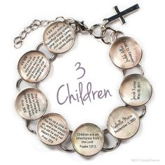 Mothers Personalized Scriptures Glass Charm by ScriptCharms, $32.00
