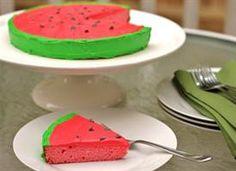 Watermelon Cake- my daughter loves watermelon