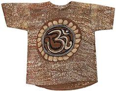 Odishabazaar Unisex Cotton Aum Om Batik T-shirt Tees Large Brown Odishabazaar http://www.amazon.com/dp/B01AO5B2GG/ref=cm_sw_r_pi_dp_0Yt7wb101GYDG