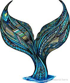 'Samoan Mermaid Tail' Sticker by Tanya Masaniai Ibarra - Informationen zu 'Samoan Mermaid Tail' Sticker by Tanya Masaniai Ibarra Pin Sie können mein Pr - Hawaiian Tribal Tattoos, Samoan Tribal Tattoos, Polynesian Tattoos, Thai Tattoo, Maori Tattoos, Geometric Tattoos, Tattoo Ink, Arm Tattoo, Hand Tattoos
