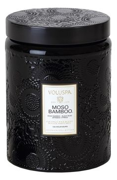 Voluspa 'Japonica - Moso Bamboo' Large Embossed Jar Candle available at #Nordstrom