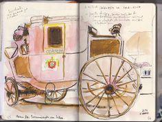 Urban Sketchers Portugal: Ciclo de Workshop no Museu das Comunicações, com Pedro Cabral - Viagens lentas_ABR13. #FPC #FundacaoPortuguesaComunicacoes #MuseuComunicacoes