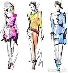 Hand-painted clothing design vector
