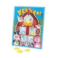 Farm Party Bean Bag Toss Game - OrientalTrading.com  ($14.00)