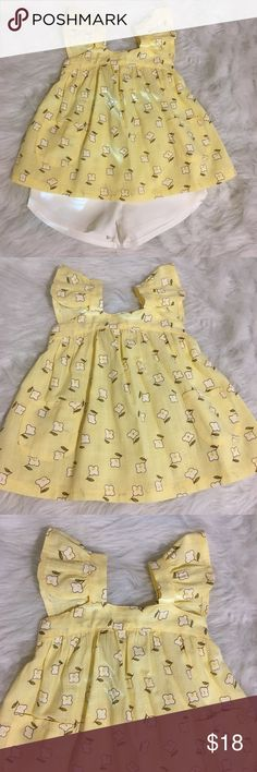 74c5f54b2e0 Girl's Summer Yellow Shirt and Shorts I love the flowy look of this top and  can · Barbie DressYellow ...