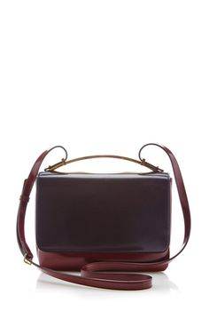 Two-Tone Leather Shoulder Bag by Marni Now Available on Moda Operandi