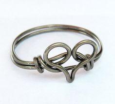 Gunmetal Heart Ring