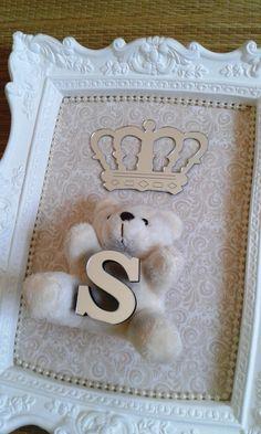 Quadro decoração bebê ursinho 1 | Art in the Box | Elo7