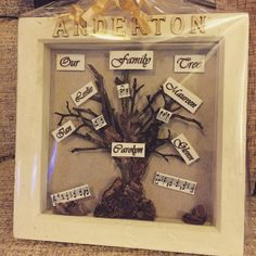 Personalised handmade Family Tree Frame Very Unique and sentimental ❤️