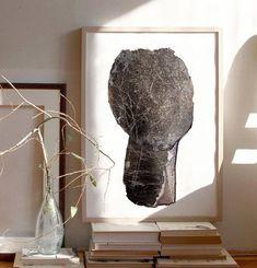Black Minimalist Art Print of Original Modern Abstract | Etsy