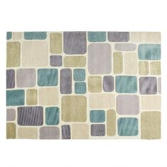 One of my favorite discoveries at ChristmasTreeShops.com: Cream/Teal Block Area Rug