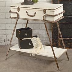 Found it at Wayfair - Suitcase Console Table