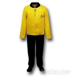 70Images of Star Trek Command Uniform Footed Pajamas