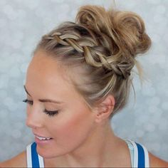 - How to Do a Chignon Bun – Easy Chignon Hair Tutorial - The Trending Hairstyle Athletic Hairstyles, Sporty Hairstyles, Workout Hairstyles, Braided Hairstyles, Hairstyles For The Gym, Cute Volleyball Hairstyles, Active Hairstyles, Top Hairstyles, Gymnastics Hair