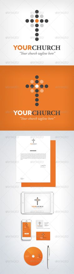 Church Logo (Digital) — Vector EPS #modern #religion • Available here → https://graphicriver.net/item/church-logo-digital/6957860?ref=pxcr