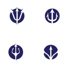 Icon Design, Logo Design, Lightning Bolt, Poseidon Statue, Trident Logo, Trishul Tattoo Designs, 3 Logo, Hush Hush, Logo Templates