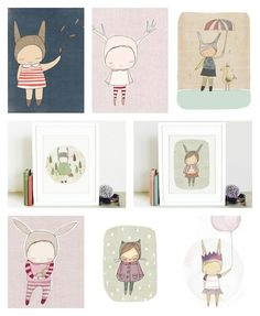 Kids walldecor by Honey Cup/ Etsy