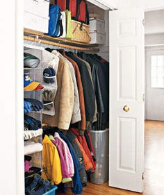Conceal Secret Storage | Closets can be the bane of your existence. Steal some ideas from those pictured here.