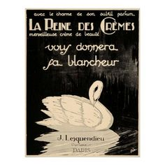 Very beautiful and very rare vintage French poster advertisement for perfumes and beauty creams.