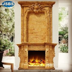 Luxury Double Fireplace Mantel www.jsbluesea.com info@jsbluesea.com whatsapp wechat:0086-13633118189 #fireplace #doublefireplace #luxuryfireplace #fireplacemantel #chateau #chateaurestoration #chateaudecor #jsbsmarble #jsbsstone #JSBS Double Fireplace, Marble Fireplace Mantel, Marble Fireplaces, Fireplace Surrounds, Fireplace Mantels, Marble Columns, Stone Columns, Marble Carving, Stone Fountains