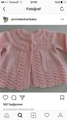 Crochet For Kids Crochet Baby Crochet Fashion Baby Knitting Fethiye Eminem Knitting Patterns Elsa Crochet Baby Clothes Baby Cardigan Knitting Pattern, Crochet Baby Cardigan, Sweater Knitting Patterns, Knit Patterns, Baby Knitting, Free Knitting, Knitted Baby Clothes, Baby Sweaters, Crochet Fashion