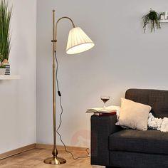 Lámpara de pieLeilan con pantalla de tela-9620274-30