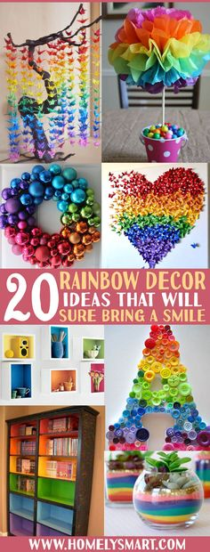 Rainbow is always a nice sight to have in the sky. That goes the same for your home too! Add some color into your home for festive celebrations like Easter's day, birthday party, Valentine's day or St. Patrick's day with these smart rainbow-themed decorations! See more via homelysmart.com