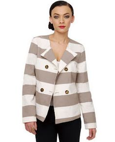Adventures in Dressmaking - Super cute striped jacket.