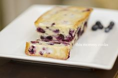 This Mommy Cooks: Blueberry Bread with Lemon Glaze