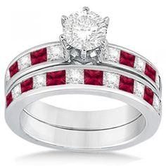 Zales Platinum And Diamond Engagement Ring Princess Cut Inset Band