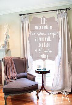 Beautiful and cost effective! DIY drop cloth curtains tutorial via maisondepax.com