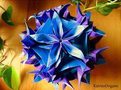 Origami ✿ Spides floral ✿ Kusudama ✿ Design von Ekaterina Lukasheva now Pavlovic